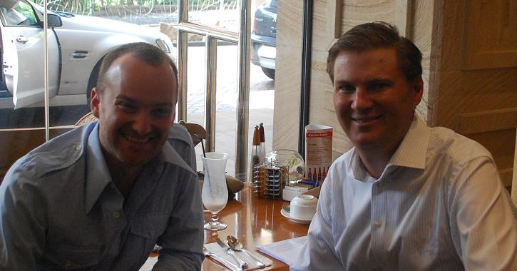 Richard Gray With Matthew Toomey